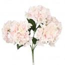 Hortensienbusch, 5 Blütenköpfe, L45cm, hellrosa-we